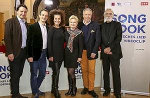 ORF-TV-Kulturchef Martin Traxl, Adrian Eröd, Angelika Kirchschlager, Ildikó Raimondi, Herbert Lippert, Michael Haneke